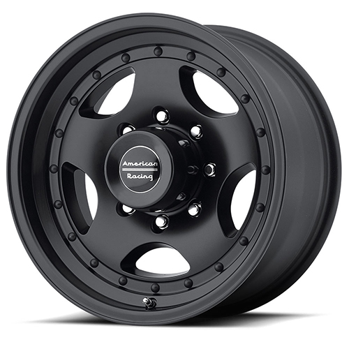 American Racing Wheels AR23 Satin Black With Clearcoat