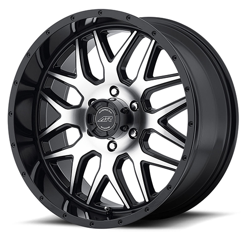 18x9 American Racing Wheels AR910 Gloss Black With Machined Face
