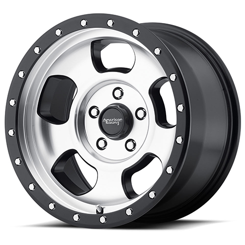 American Racing Wheels AR969 Ansen Off Road Machined Face with Satin Black Ring
