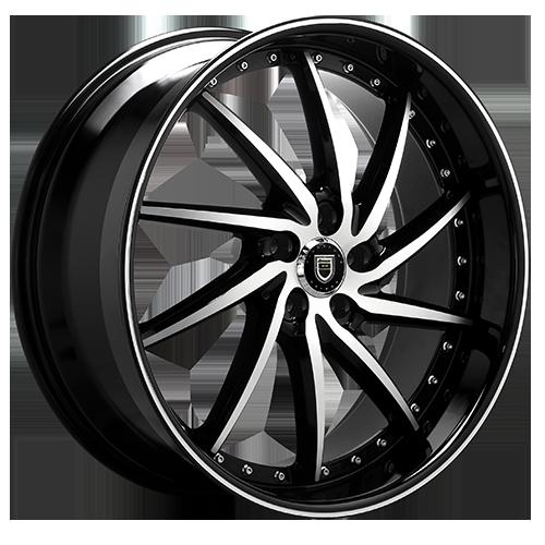 Lexani Wheels ARTEMIS Machined Face W/Blk Lip
