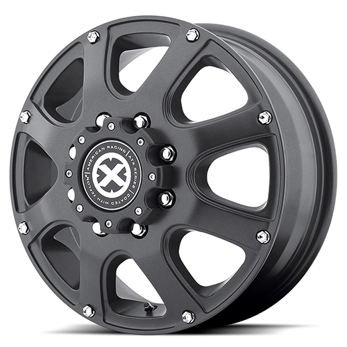 ATX Series Offroad Wheels AX189 Ledge Dually Cast Iron Black Front
