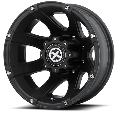 ATX Series Offroad Wheels AX189 Ledge Dually Cast Iron Black Rear