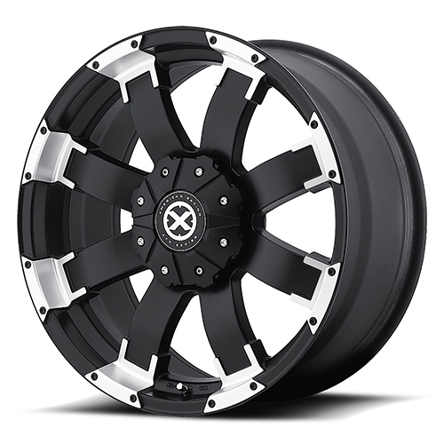 ATX Series Offroad Wheels AX191 Shackle Satin Black With Machined Face