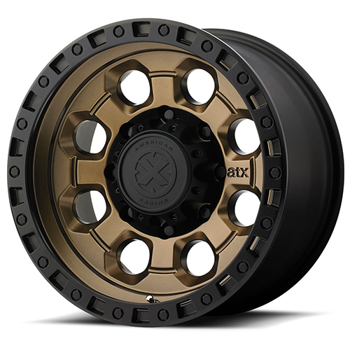 ATX Series Offroad Wheels AX201 Matte Bronze with Black Lip