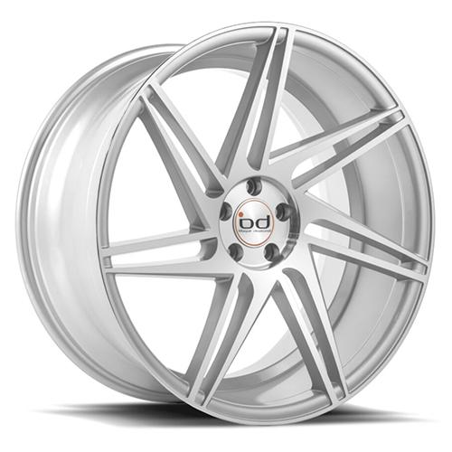 Blaque Diamond Concave Wheels Blaque Diamond BD-1 Silver with machine Face