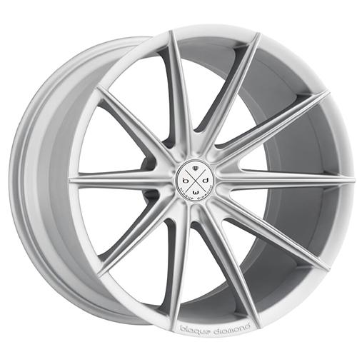 Blaque Diamond Concave Wheels Blaque Diamond BD-11 Matte Silver
