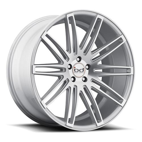 Blaque Diamond Concave Wheels Blaque Diamond BD-2 Silver with machine Face