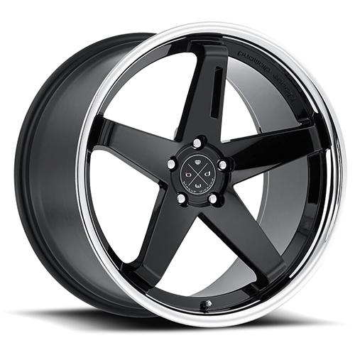 Blaque Diamond Concave Wheels Blaque Diamond BD-21 Gloss Black center with chrome SS lip