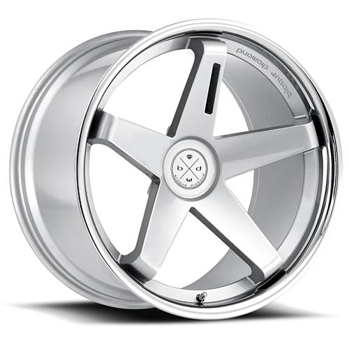 Blaque Diamond Concave Wheels Blaque Diamond BD-21 Silver center with chrome SS lip
