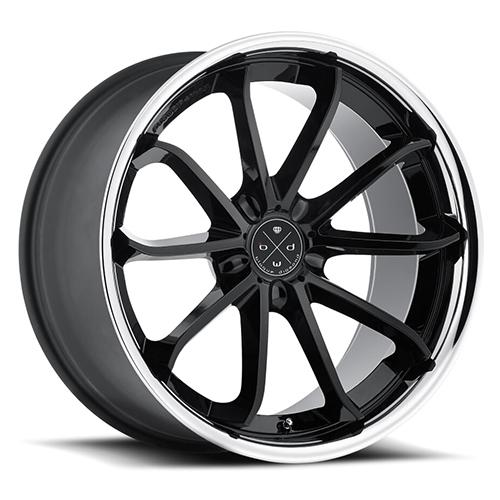 Blaque Diamond Concave Wheels Blaque Diamond BD-23 Gloss black center with chrome SS lip