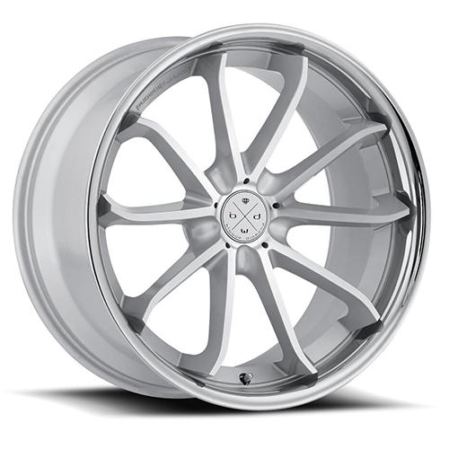 Blaque Diamond Concave Wheels Blaque Diamond BD-23 Silver Machined with chrome SS lip