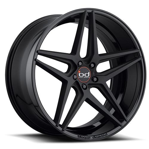Blaque Diamond Concave Wheels Blaque Diamond BD-8 2 Tone Black Gloss Black with Matte Face
