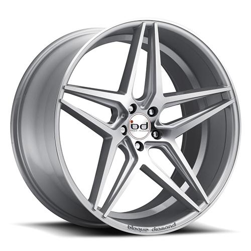 Blaque Diamond Concave Wheels Blaque Diamond BD-8 Silver with machine Face