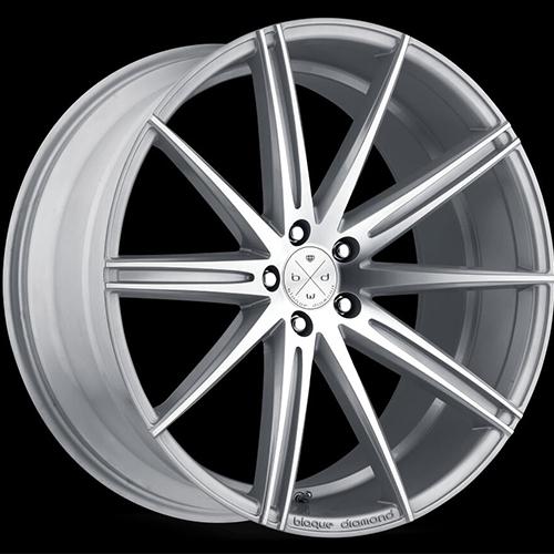 Blaque Diamond Concave Wheels Blaque Diamond BD-9 Silver with Polish Face