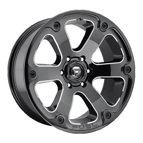 Fuel Offroad Wheels Beast Black Milled