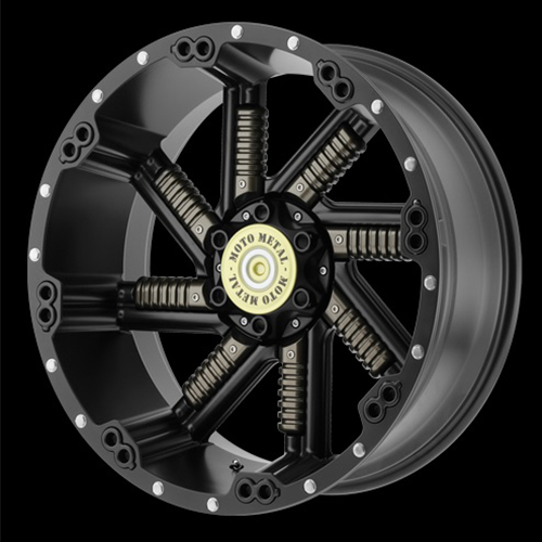 Moto Metal Offroad Wheels  Buckshot Satin Black With Gun Metal Inserts