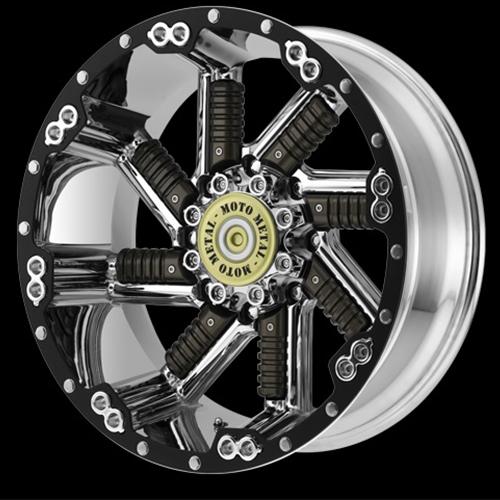 Moto Metal Offroad Wheels  Buckshot Chrome With Gun Metal Inserts