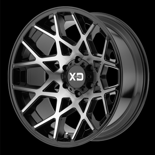 XD Series by KMC Wheels Chopstix Gloss Black Machined