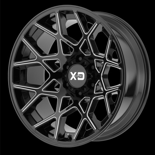 XD Series by KMC Wheels Chopstix Gloss Black Milled