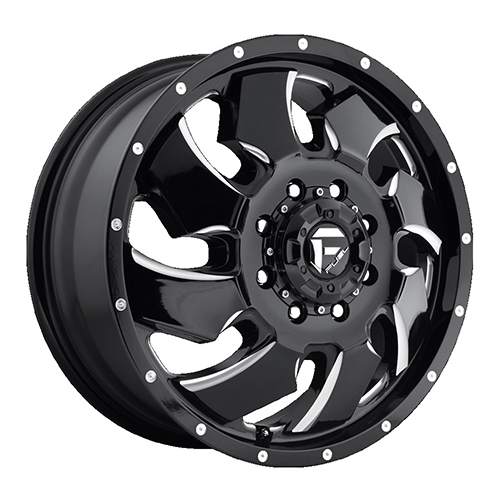 Fuel Offroad Wheels Cleaver Dualie Front Black Milled
