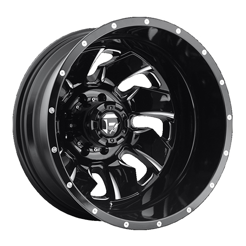 Fuel Offroad Wheels Cleaver Dualie Rear Black Milled