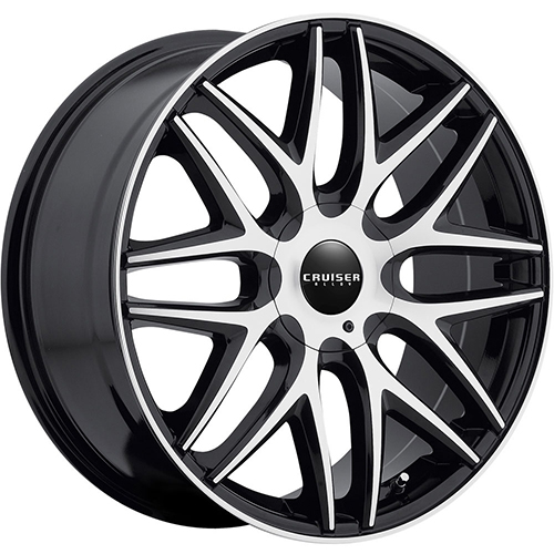 Cruiser Alloy Wheels Endure Mirror Machined Face and Lip Edge with Gloss Black Accents
