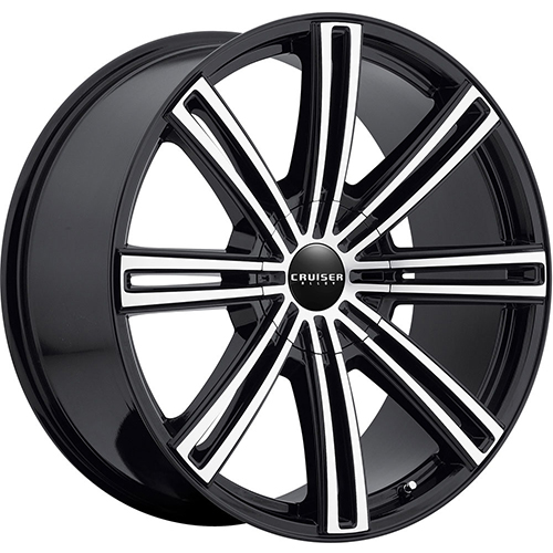 Cruiser Alloy Wheels Obsession Mirror Machined Face with Gloss Black Accents