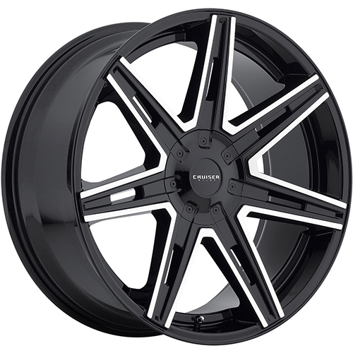 Cruiser Alloy Wheels Paradigm Gloss Black with Mirror Machined Accents