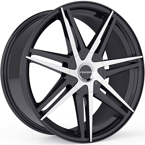 Cruiser Alloy Wheels Enigma Gloss Black with Mirror Machined Accents