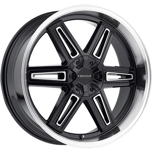 Cruiser Alloy Wheels Iconic Gloss Black with Mirror Machined Lip and Spoke Accents