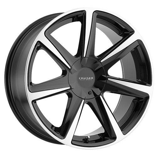 Cruiser Alloy Wheels Kinetic Gloss Black with Mirror Machined Lip and Spoke Accents