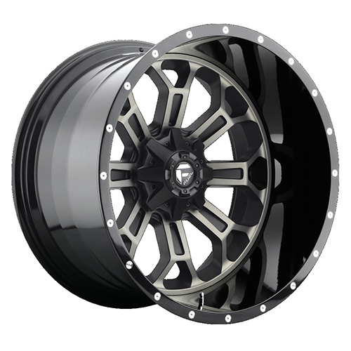 Fuel Offroad Wheels Crush Black Machined