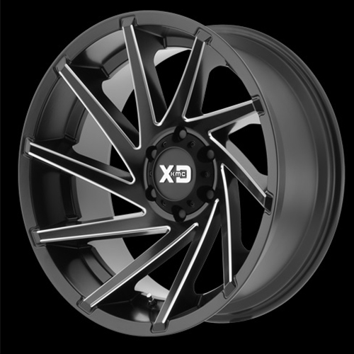 XD Series by KMC Wheels Cyclone Satin Black Milled