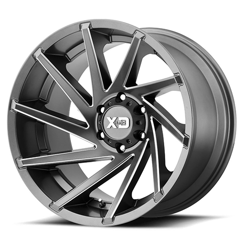 XD Series by KMC Wheels Cyclone Satin Grey Milled