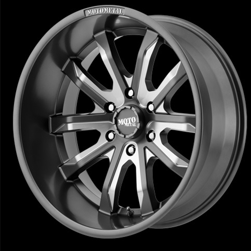 Moto Metal Offroad Wheels  Dagger Satin Gray Milled