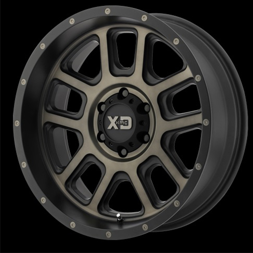 XD Series by KMC Wheels Delta Matte Black With Dark Tint Clear