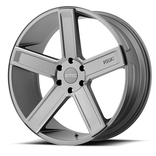 KMC Wheels Duece Satin Grey Milled