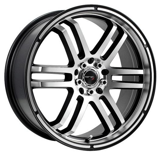 Drifz Wheels Fx Machined Face Gloss Black Accents