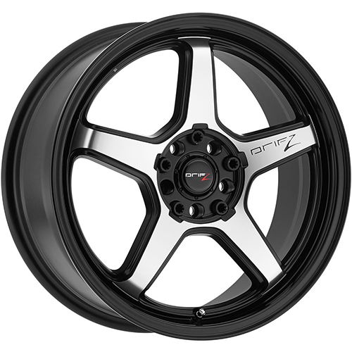 Drifz Wheels Circuit Carbon Black Center with Mirror Machined Lip