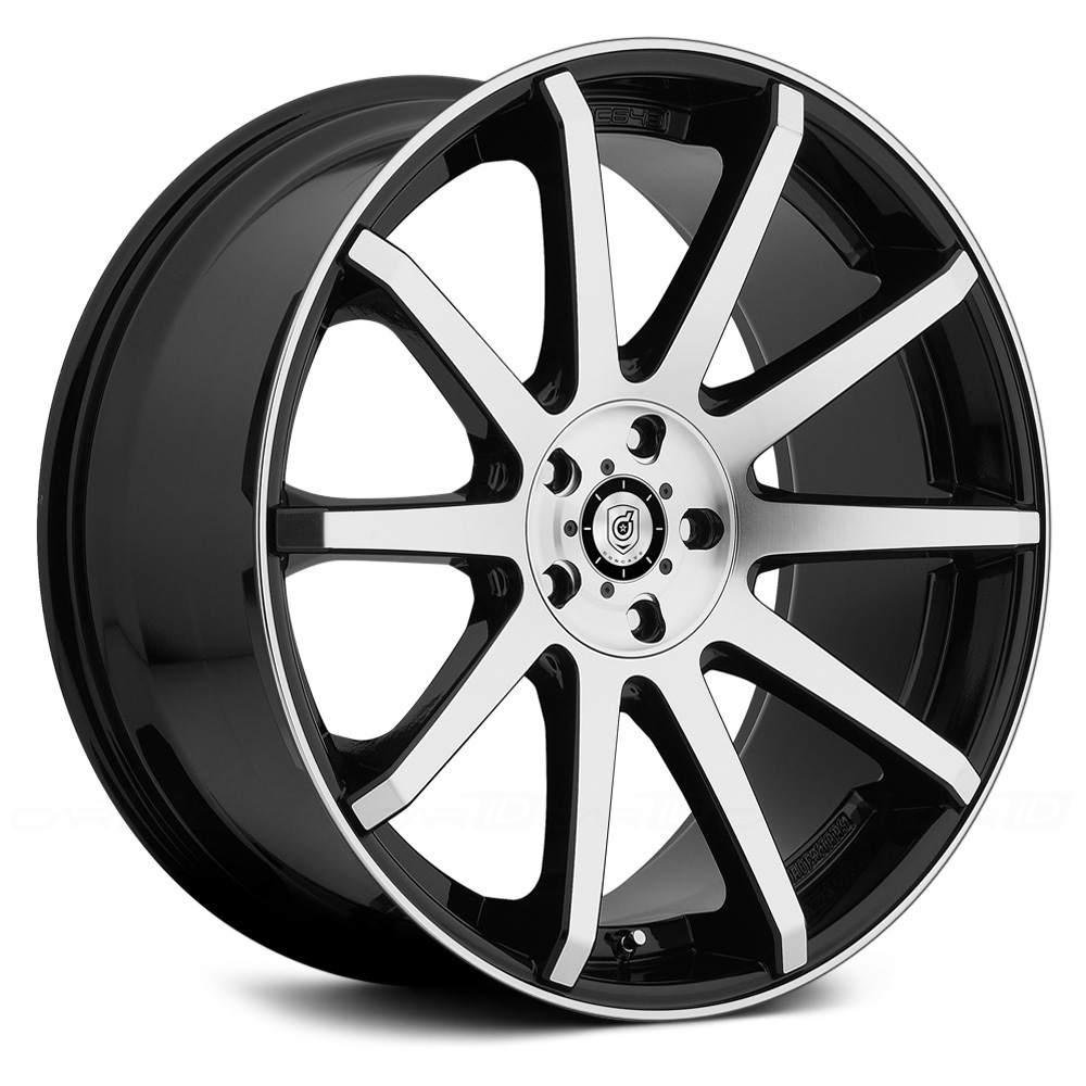 Dropstars Wheels 643Mb Machined Face And Lip Black Accent