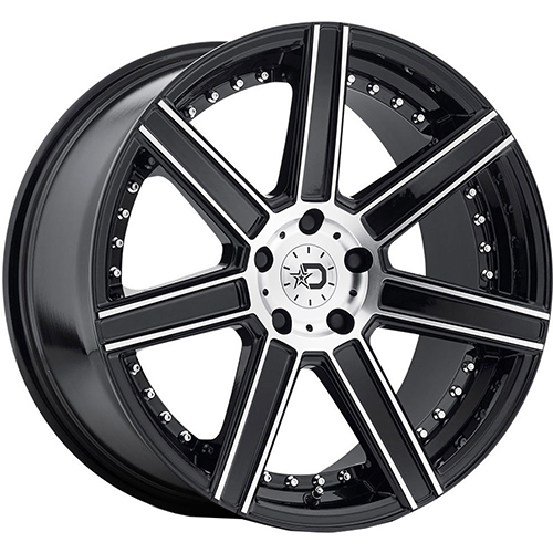 Dropstars Wheels 650MB Gloss Black with Mirror Machined Face Accents