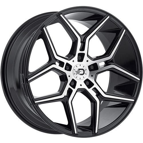 Dropstars Wheels 651MB Gloss Black with Mirror Machined Face