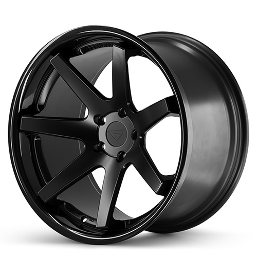20x9 Ferrada Wheels FR1 Matte Black with Gloss Black Lip