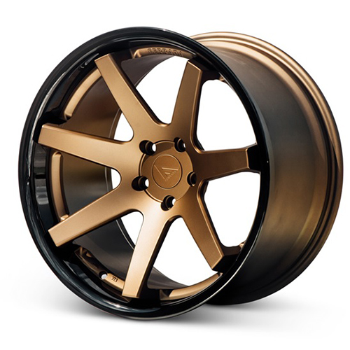 Ferrada Wheels FR1 Matte Bronze with Gloss Black Lip