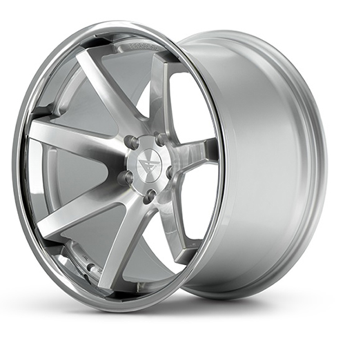 Ferrada Wheels FR1 Machine Silver with Chrome Lip