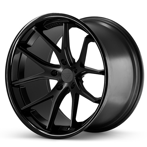 Ferrada Wheels FR2 Matte Black with Gloss Black Lip