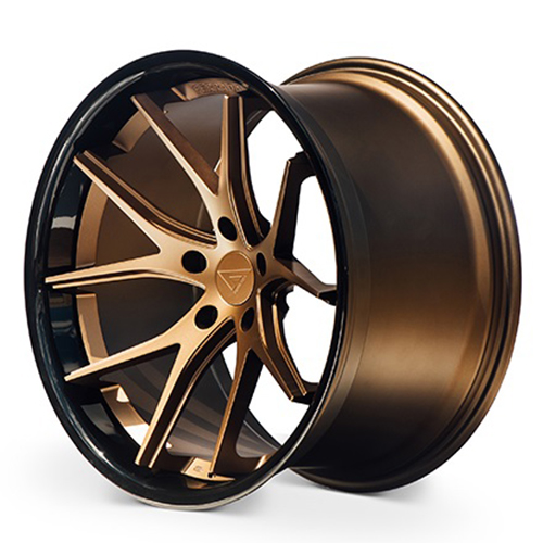 Ferrada Wheels FR2 Matte Bronze with Gloss Black Lip