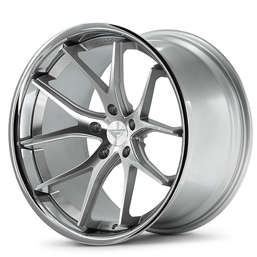 20x9 Ferrada Wheels FR2 Machine Silver with Chrome Lip