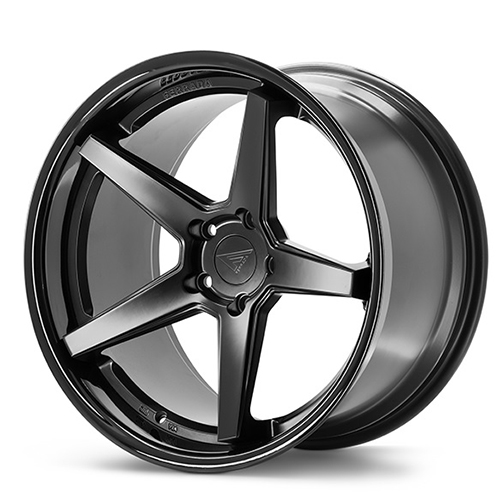 20x9 Ferrada Wheels FR3 Matte Black with Gloss Black Lip