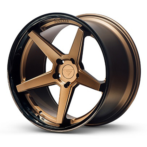 20x9 Ferrada Wheels FR3 Matte Bronze with Gloss Black Lip